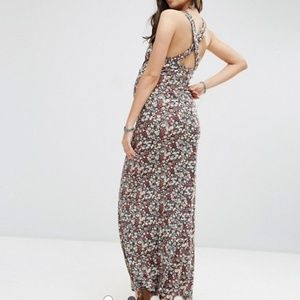 ASOS Maternity Maxi Dress in Ditsy Print with Cro